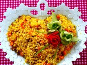 دستور تهیه هویج پلو ساده و شیرین