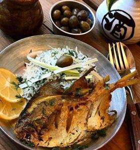 روش پخت ماهی با سس شوید