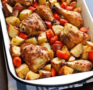 دستور تهیه خوراک مرغ و سیب زمینی
