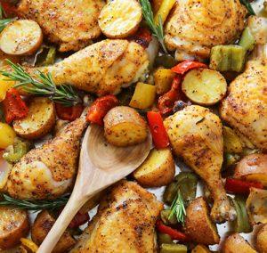 دستور تهیه مرغ و سیب زمینی تنوری