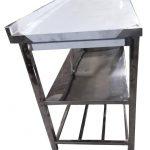 میز کار 2 متری استیل 2 طبقه