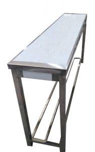 میز کار وسط بدنه استیل ۱۹۰ سانتی